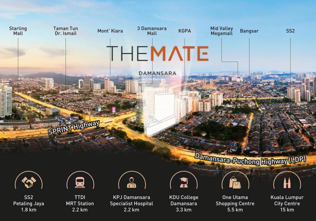The Mate, Damansara Jaya - Location